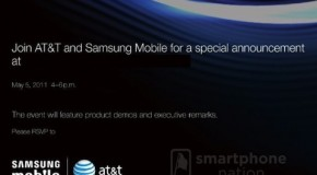AT&T and Samsung having a special announcement on May 5