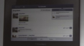 BlackBerry PlayBook gets a Facebook app