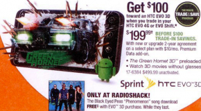 Sprint's HTC EVO 3D to cost $199.99 on contract at Radio Shack