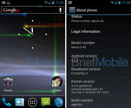Android 4.0 Ice Cream Sandwich for Nexus S